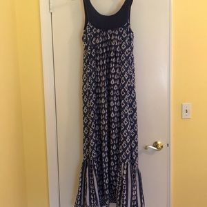 Roberta Roller Rabbit Blockprint Maxi Dress Size S